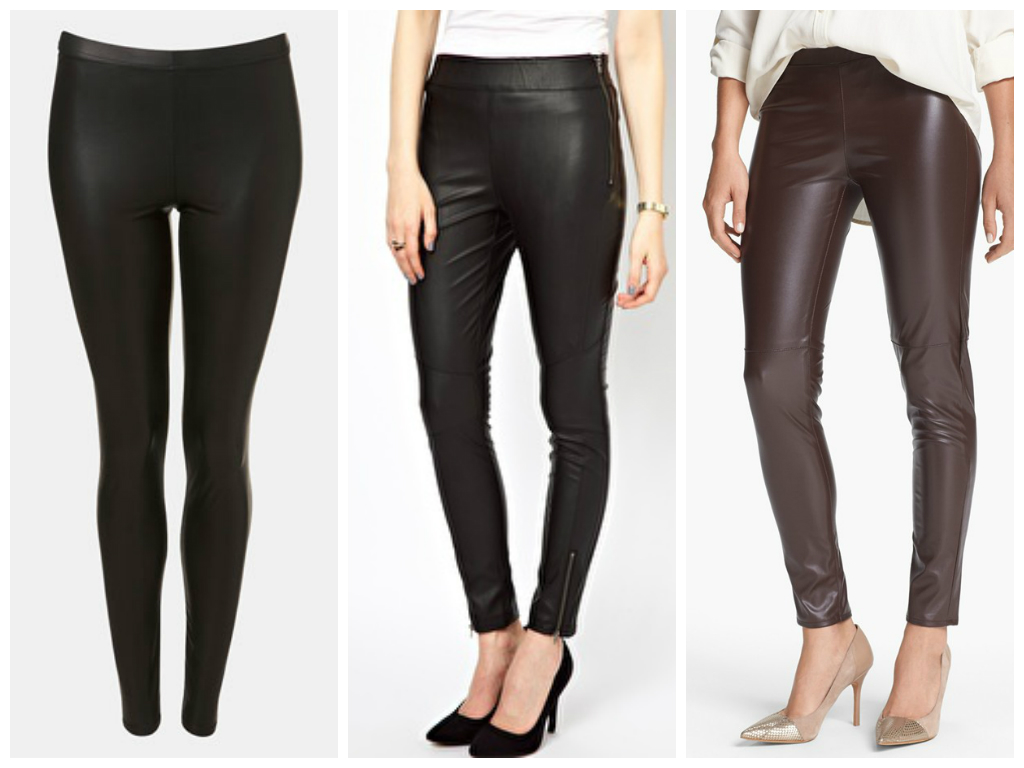 Leather Wear with Leggings