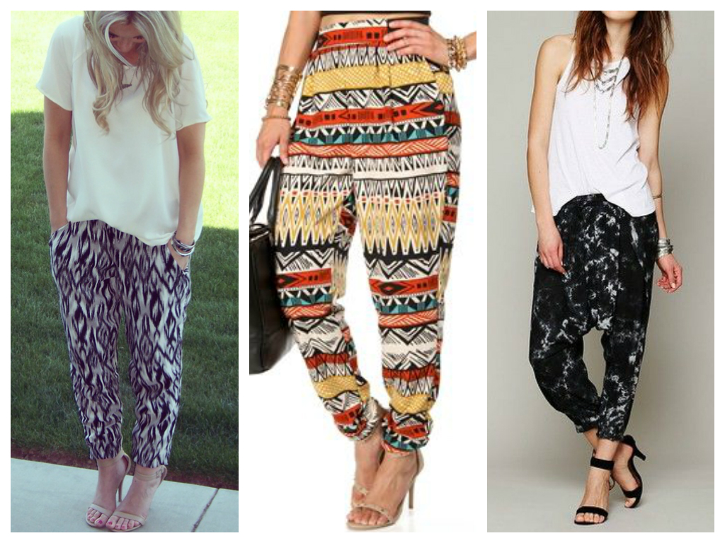 Easiest Trends Ever: Harem Pants | TopKnots & PolkaDots