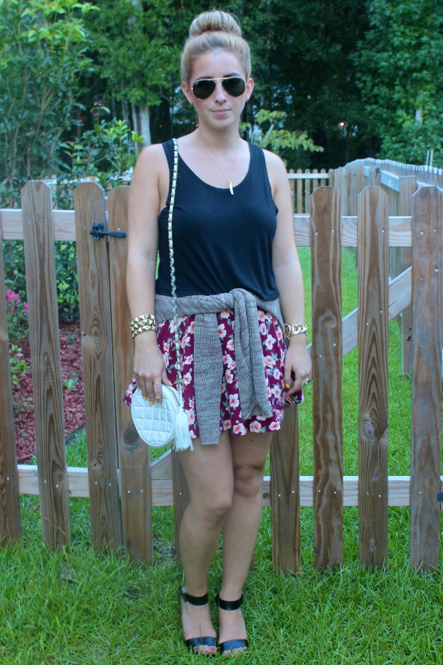 f1d8a6241 Piko Crop Top: Rolling Rack Boutique | Skater Skirt: Forever 21 | Pumps:  Target | Sweater: Urban Outfitters (similar) | Crossbody Bag: Uptown  Cheapskate ...